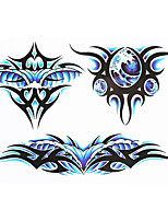 8PCS Totem Abstract Butterfly Picture Design Women Men Body Sleeve Hand Art Tattoo Temporary Tattoo Paste Stickers Paper