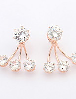 Stud Earrings Women's / Unisex Alloy Earring Cubic Zirconia