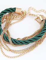 Multilayer Woven Bracelet Metal Chain Jewelry