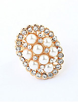 Temperament Elegant Pearl Oval Ring