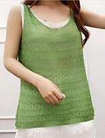 Women's Patchwork Green Vest,Street chic Sleeveless