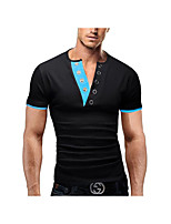 Men's Short Sleeve T-Shirt,Cotton Casual Solid