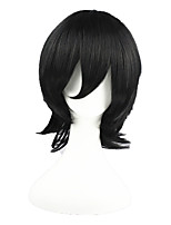 bleach-Kojima Mizuiro Black 14inch Anime Cosplay Wig CS-008A