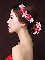 Women's Fabric Headpiece-Wedding / Special Occasion Flowers / Hair Clip 1 Piece