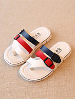 Baby Shoes Outdoor Leatherette Slippers Red / White