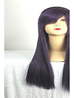 Purple  Cosplay Wig with Side Bang 80cm  Long  Synthetic Hair  Wigs Girl's Cartoon Wigs Suit for  Party and Cosplay