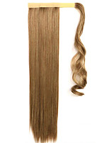 Golden 60CM Synthetic High Temperature Wire Wig Straight Hair Ponytail Color 10/86