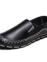 Men's Shoes Casual PU Loafers Black / Blue / Brown / White