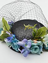 Vrouwen Stof / Net Helm-Bruiloft / Speciale gelegenheden Fascinators 1 Stuk