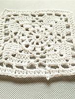 20pcs/lot 10cm Square Pastoral Style Placemat Table Mat Hand DIY Accessory Flower Crochet Cotton Cup Pads