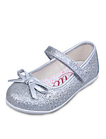 Girls' Shoes Dress / Casual PU Flats Spring / Summer / Fall Comfort / Round Toe / Closed Toe Flat Heel Magic Tape Ivory / Silver