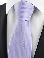 KissTies Men's Necktie Lavender Violet Dots Square Check Wedding/Business/Work/Formal/Casual Tie With Gift Box