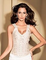YUIYE® Women Sexy Lingerie Waist Training Corset Bustier Tops Shapewear Beige Floral Overbust Corset Plus Size 2XL