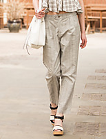 Europrimo® Women's Mid Rise Loose Gray Casual Pants-EUFCZ705