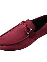 Men's Shoes Casual Fleece Loafers Black / Blue / Red