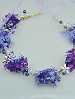 Donne / Bambina Perle / Tessuto Copricapo-Matrimonio / Occasioni speciali / Casual / All'aperto Ghirlande di fiori 1 pezzo