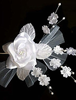 Women's Tulle / Fabric Headpiece-Wedding / Special Occasion Bridal Flowers / Hair Stick 1 Piece