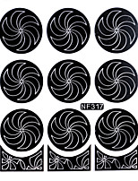 Nail Art Template Sticker-(NF317-Black)