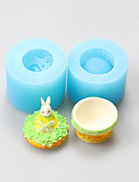 The Rabbit Soft Clay Rose Silicone Fondant Cake Jewelry Box Chocolate Silicone Molds,Decoration Tools Bakeware