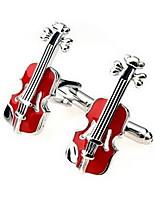 Men's Fashion Violin Style Alloy French Shirt Cufflinks (1-Pair)