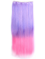 Ombre sintetico Perruque Straight Natural Hair Hairpiece Costume Synthetic Hair Clip In Hair Extensions