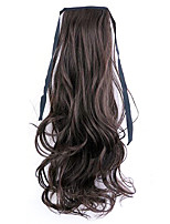 Borwn Length 50CM Factory Direct Sale Bind Type Curl Horsetail Hair Ponytail(Color 4A/33)