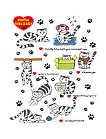 Wall Stickers Wall Decals Style Lovely Little Cat PVC Wall Stickers