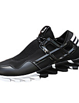 Men's Spring / Summer / Fall Comfort Tulle Outdoor Flat Heel Black / Black and White Sneaker