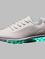 LED shoesMen's Shoes Outdoor / Athletic / Casual Tulle Fashion Sneakers Black / Blue / Red / White