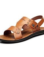 Zapatos de Hombre-Sandalias-Exterior / Oficina y Trabajo / Vestido / Casual / Deporte-Cuero de Napa-Marrón