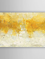 Hand Painted Oil Painting Abstract Golden Watercolor with Stretched Frame 7 Wall Arts®
