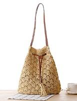 Women-Casual-Straw-Shoulder Bag-White / Green / Yellow / Brown / Khaki