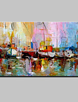 Hand Painted Abstract Sailing Landscape Oil Painting On Canvas Wall Art With Stretched Frame Ready To Hang 90x140cm