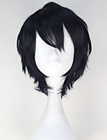 Seraph of the end Hyakuya Yuichiro Men Synthetic Short Straight Black Color Anime Cosplay Wig