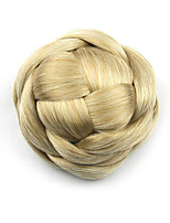 Kinky Curly Gold Europe Bride Human Hair Capless Wigs Chignons G660205 1003