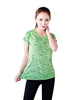 Women's Running Breathable Tops Running Sports Wear Green