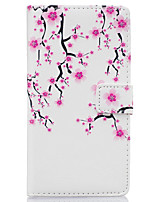 Plum Flower Pattern PU Leather Material Phone Case for Huawei Ascend P9 Lite/ P9