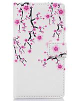 сливы цветочный узор пу кожаный материал аргументы за телефона Huawei Ascend p9 облегченная / p9