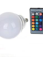 10W E14 Ampoules Globe LED A70 1 LED Haute Puissance 600-900 lm RVB Commandée à Distance AC 85-265 V 1 pièce