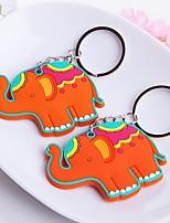 rubber gelukkige olifant sleutelhanger