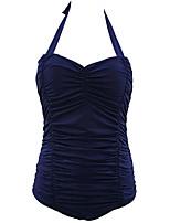 Summer Retro Totems Female's Swimwear Dark Blue