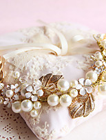 Women's / Flower Girl's Crystal / Brass / Imitation Pearl Headpiece-Wedding / Special Occasion / Outdoor Wreaths 1 Piece