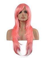 peluca cosplay inspirado en peluca sintética pelo rosa arte de la espada Asuna Yuuki en línea.