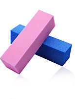 2pcs  Brick Shaped Nail Polishing Tool Buffer Manicure Buffing Sand Sponge Files Random Color
