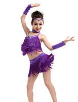 Accesorios(Verde / Morado / Rojo / Amarillo,Espándex / Poliéster,Danza Latina) -Danza Latina- paraNiños Cristales/Rhinestones / Borla(s)