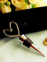Chrome Heart Wine Bottle Stopper Wedding Favors