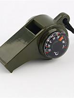 1pc nuovo fischio nero bussola 3 in1 sopravvivenza termometro campeggio nuovo marchio