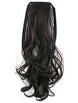 Borwn Length 50CM Factory Direct Sale Bind Type Curl Horsetail Hair Ponytail(Color 6B)