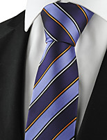 KissTies Men's Striped Tie Suits Necktie Formal For Wedding Party Holiday Business With Gift Box (4 Colors Available)