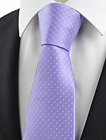 KissTies Men's Necktie Lavender Violet Dots Wedding/Business/Work/Formal/Casual Tie With Gift Box